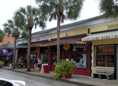 Cocoa Village is a historic landmark in Florida, with adorable little shops.