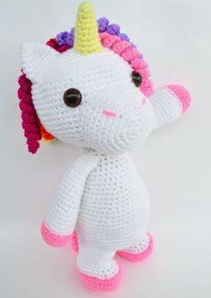amigurumi amigurumi unicornio Patrn de Crochet en Ingls y Crochet Patterns Amigurumi, Amigurumi Doll, Half Double Crochet, Single Crochet, Cute Crochet, Crochet Hooks, Spanish Pattern, Amigurumi For Beginners, Crochet Unicorn
