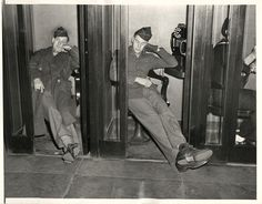 1944- Scene in Washington D.C's Union Station as soldiers tried to place Thanksgiving calls home during phone strike.