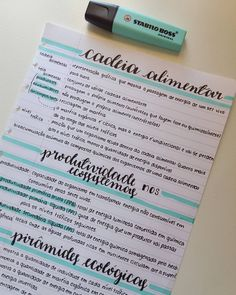 Ecologia #ecologia #study #studygram #studyblr #lettering #brushlettering