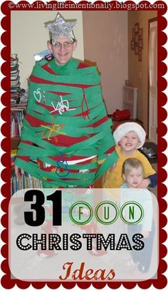 31 FUN Christmas Ideas for Families - Great ideas for family fun you can use to fill up your Advent Calendars this December #kidsactivities #christmas