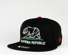 12fdcbc8f37  NewEra x  CaliforniaRepublic Black Cali (Green Under) 59fifty  35  California Republic
