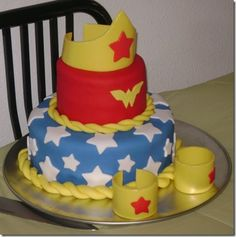 Wonder Woman Cake....for someone's 35th birthday perhaps...
