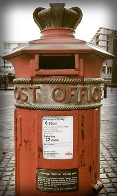 Liverpool's 'Special' Pillar Box, Albert Dock This is one of the original 'special' posting boxes that was cast in 1863 by Messrs Cochrane ...
