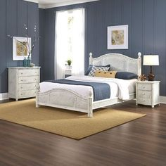 Bay Isle Home Oliver Panel 3 Piece Bedroom Set Size: Queen, Finish: White