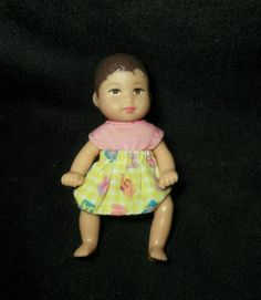 Mattel Barbie Happy Family Baby Girl Doll Figure Brown Hair Eyes Krissy   tu5