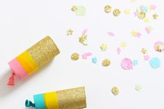 DIY Confetti Poppers by Wimke We are in a big partymood! My sister is getting married and asked me to think about the party decorations. I am a big fan of party decorations! You can do so much with stuff...