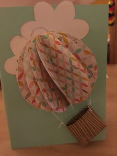 Gutscheinkarte für Ballonfahrt - Voucher for hot ballon ride