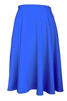 Elastic Waist Band Midi Flare Skirt  Color- Royal Blue   #midi #flare #vintage #