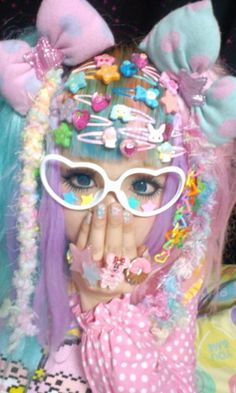 Not lolita, this is decora Fashion Kids, Tokyo Fashion, Harajuku Fashion, Kawaii Fashion, Lolita Fashion, Cute Fashion, Fashion Styles, Japanese Streets, Japanese Street Fashion