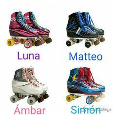 Patins de Luna,Matteo, Ámbar e Simón