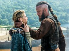 Ragnar and Lagertha on Vikings!
