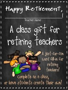 Retirement book a gift for a teacher have students write down retirement booklet class gift for retiring teachers fill in edition negle Images