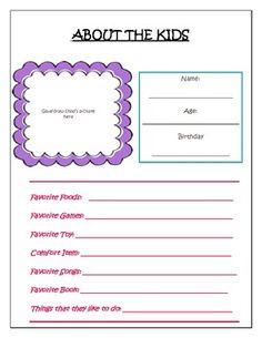 """MY BABYSITTING KIT"" PRINTABLE PACK - TeachersPayTeachers.com"