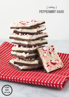 Holiday Peppermint Bark   Fork Knife Swoon  12 oz good-quality semi-sweet chocolate chips  12 oz good-quality white chocolate chips  1 tsp pure mint extract  3 candy canes