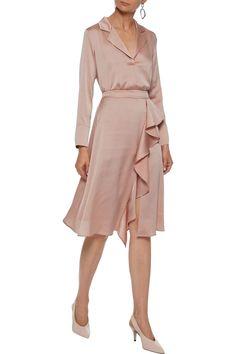 Iris /& Lilly Satin Ruffle Midi Kimono Donna