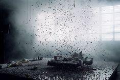 """""""Blasted"""" by Jan Pappelbaum scenicdesign 2014 - de sfeer die hij heeft neer… Set Design Theatre, Stage Design, Kasimir Und Karoline, Bühnen Design, Scenography Theatre, Artistic Installation, Interactive Installation, Theater, Theatre Stage"""