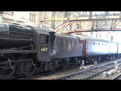 Tour Scotland Photographs: Tour Scotland Video Great Britain VI Steam Train Railway Station Perth Perthshire