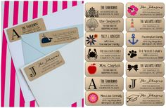 These crafty labels offer a different look from the standard white label giving your announcements and letters a unique style. With 21 designs to choose from, there is a label for every occasion - graduation, wedding, birthday party, teacher gift, etc. - as well as just every day use.