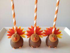 Gobble Gobble ~ Turkey Cake Pops