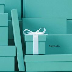 Always fun to save your Tiffany & Co. boxes.  I put mine on one of my shelves in my closet for color and fun memories.