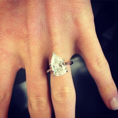 A perfect pear! We love this classic and elegant look! Do you?  (Available at Michael C. Fina)