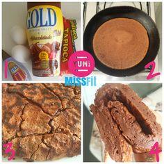 Felicidade em 4 passos com essa Crepioca de chocolate delícia feita em 5 minutos!
