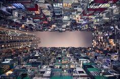 Fotografias del horizonte vertical de Hong Kong