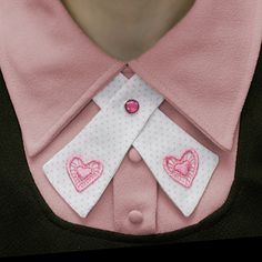The little pink heart appliques were hand-dyed by me :)