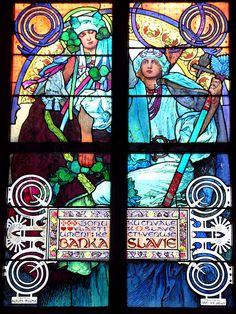 Mucha's stained glass in St. Vitus Cathedral