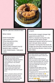 Chocolate Bunt Cake, Marmer Cake, Bolu Cake, Resep Cake, Marble Cake Recipes, Snack Recipes, Dessert Recipes, Traditional Cakes, Asian Desserts
