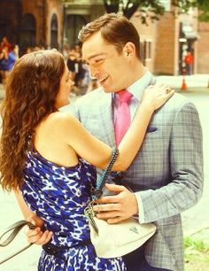 Leighton Meester and Ed Westwick as Blair Waldorf and Chuck Bass