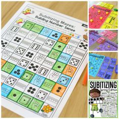 Help students master number concepts using common patterns and number combinations with the Subitizing Spring Edition NO PREP Packet. This is the perfect foundation for addition and subtraction.