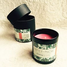 Papier Mache // Fresh Blossom // Hand Poured // Scented // Luxury // Soy Candle // buy it on zet.com #soycandle #soyamumu #soya