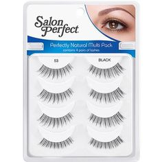 5793315400a Find Salon Perfect Natural Multi Pack Eyelashes 53 at  www.MadameMadeline.com under Andrea