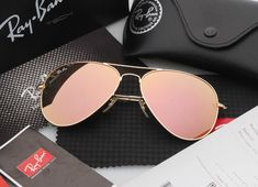 8b4dacf24 Ray-Ban Sunglasses Aviator RB3025 112/Z2 Gold Frame Pink Mirror 58mm  #fashion