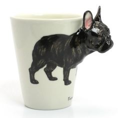 Black Brindle French bulldog Mug 00001 Ceramic Cup Handmade Gifts