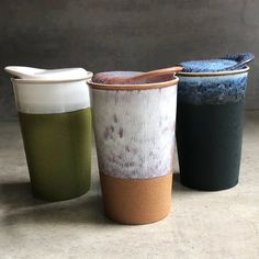 These beautiful Australian designed Ceramic Travel Cups are double walled to keep drinks hot and hands comfortable. Three different glazes to choose from. They have a spill-free ceramic lid with a silicone seal. Glass Coffee Mugs, Ceramic Coffee Cups, Ceramic Mugs, Ceramic Mug With Lid, Travel Coffee Cup, Travel Cup, Coffee Coffee, Ceramic Cafe, Beeswax Food Wrap
