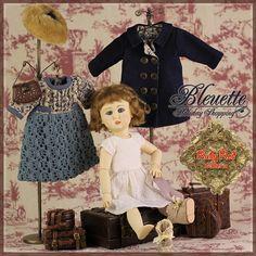EC0045B Bleuette, Holiday Shopping (no wig) - Bleuette Cloth Set [EC0045B] - $49.90,