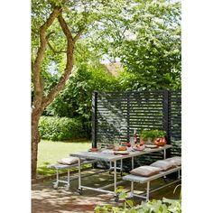 Plus Urban Picnic Plankesæt 207cm bord/bænkesæt m/hjul gråbrun 185950-18