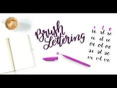 Brush-Lettering: die Buchstaben verbinden sich zu Worten - Bunte Galerie