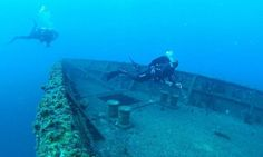 Incredible pictures of warship that's become a playground for #scuba divers, North of Sydney, Australia