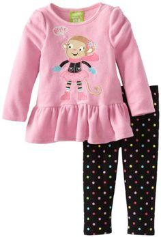 Pink Monkey Dress and Pant Set