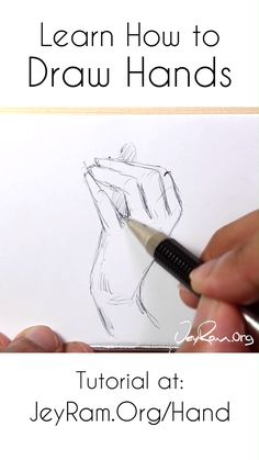Learn how to draw hands with this step by step tutorial (on the site). There are 4 stages of understanding how to draw h Eye Drawing Tutorials, Drawing Techniques, Drawing Tips, Art Tutorials, Step By Step Sketches, Sketches Tutorial, Hand Drawing Reference, Art Reference Poses, Anatomy Art