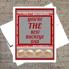 Fathers Day Card Ohio State Card Funny Card For by WhatACardCards