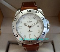 43mm Parnis Sapphire Crystal Japanese 21 jewels Automatic Self-Wind Movement Mechanical watches 5Bar Men's watches 420