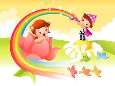 Vector Cartoon Child Wallpaper Album #17 - 1600x1200