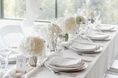 We created a beautiful wedding styling using only white hydrangeas, candles and linen. This created the perfect romantic style for a summer wedding reception. Wedding Shoot, Wedding Reception, Our Wedding, Dream Wedding, Romantic Look, Romantic Dinners, Large Candles, Pillar Candles, White Hydrangeas