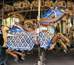 Le Carrousel de Lancelot Fluer de Lis Horse Disneyland Paris, France © Gary Nance Date of picture: April, 2005 Victorian Dollhouse, Modern Dollhouse, Disneyland Paris, Carosel Horse, Horse Armor, Saints, Wooden Horse, Painted Pony, Merry Go Round