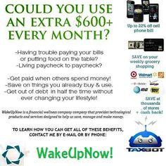WAKE UP NOW: How To Make An Extra 600 Evry Month